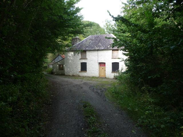 Disused property near Llanerchaeron