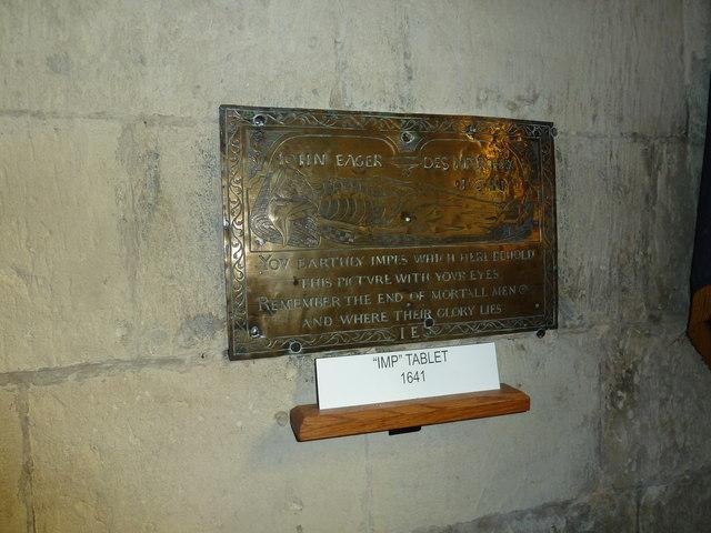 All Saints, Crondall: ancient tablet