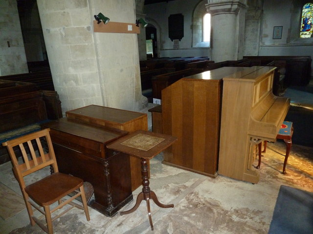 All Saints, Crondall: musical instruments
