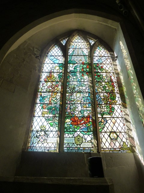 All Saints, Crondall: stained glass window (5)