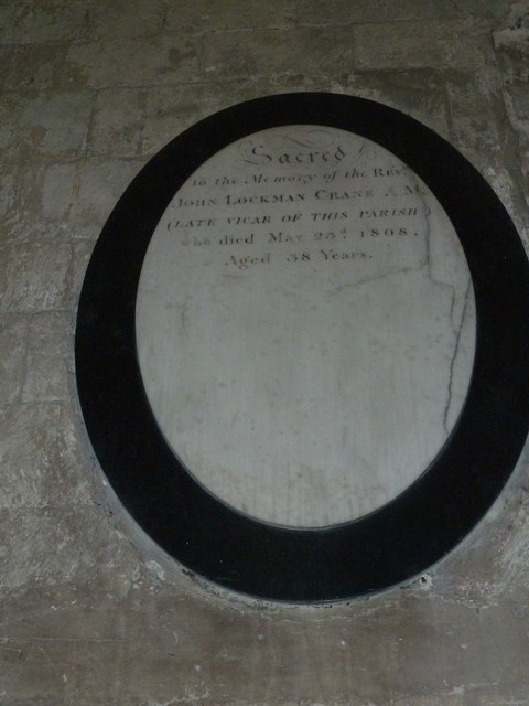 All Saints, Crondall: uncompleted memorial