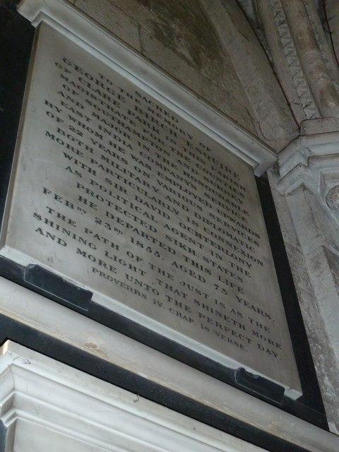 All Saints, Crondall: memorial (7)
