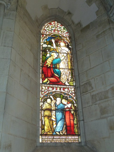 All Saints, Crondall: stained glass window (6)