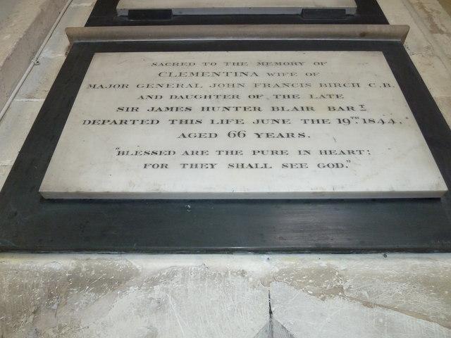 All Saints, Crondall: memorial (8)