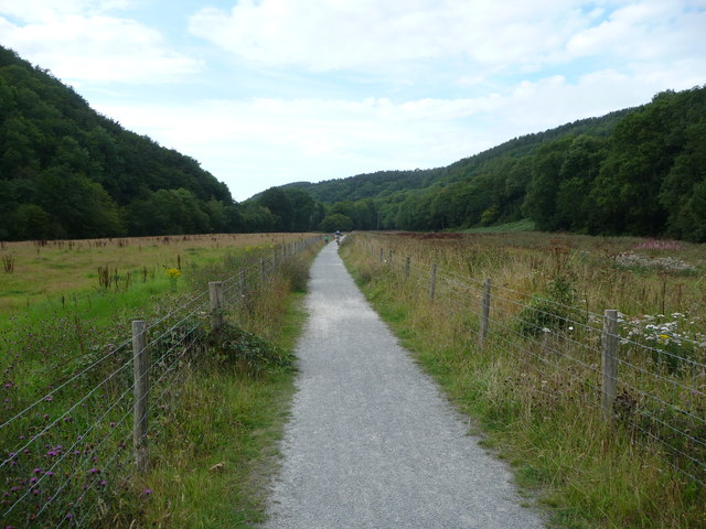 Part of the cycleway in the valley of the Afon Aeron