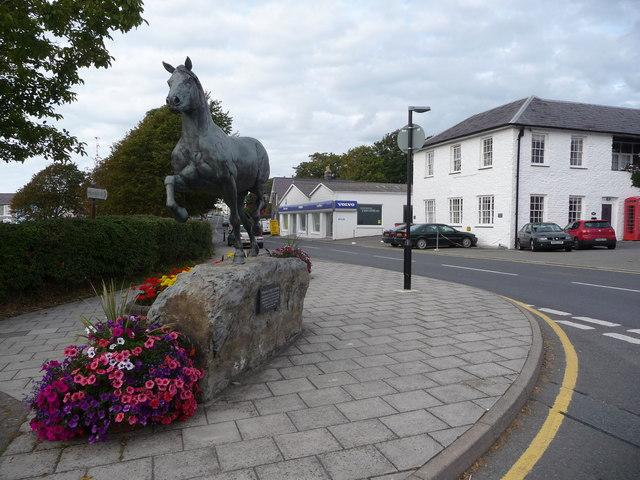 Welsh Cob statue, Aberaeron
