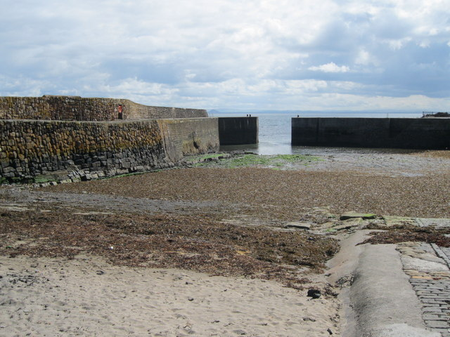 Cellardyke Harbour and entrance