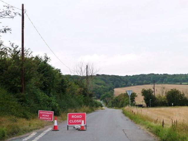 Greengate Road, closed for resurfacing