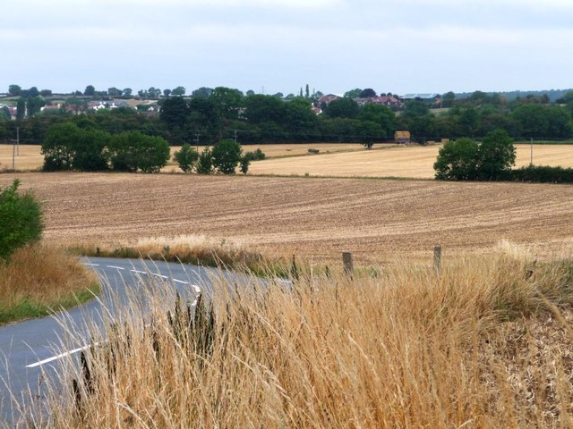 Stubble fields south of the Smeatons