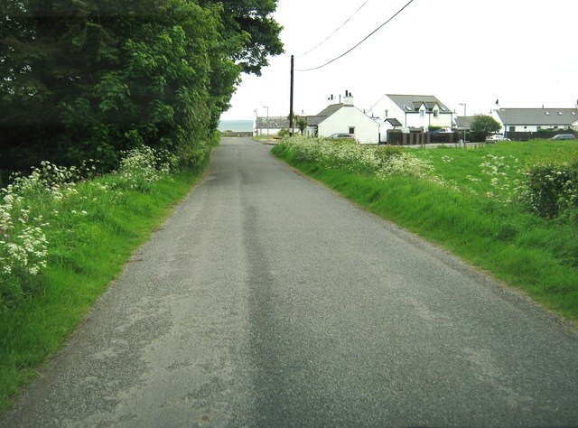 Approaching the A716 at Ardwell