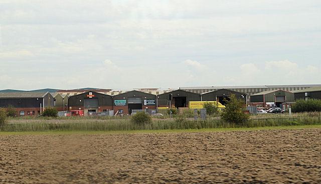 Industrial units on Moxon way