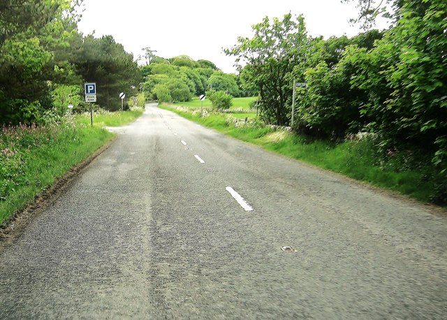 The entrance to the picnic area at Ardwell