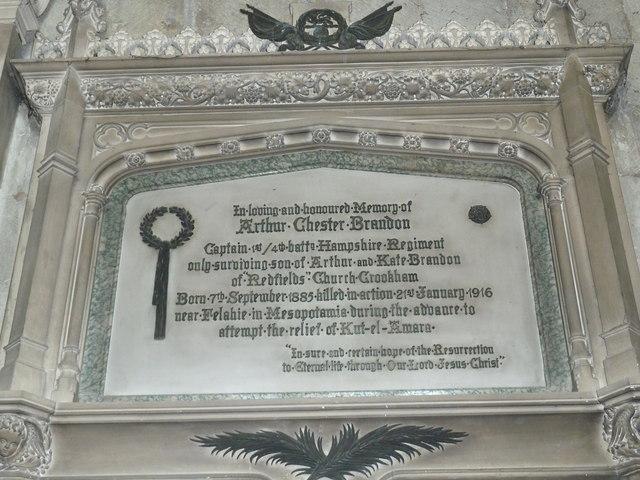 All Saints, Crondall: memorial (10)