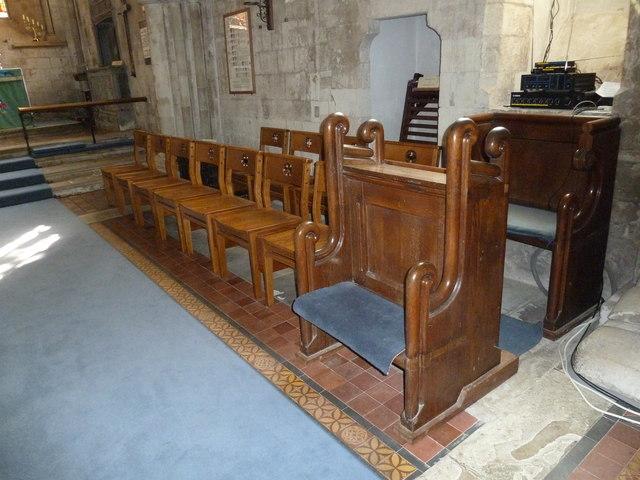 All Saints, Crondall: choir stalls