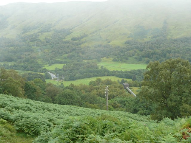 The top of the pipeline to Lochay Power Station
