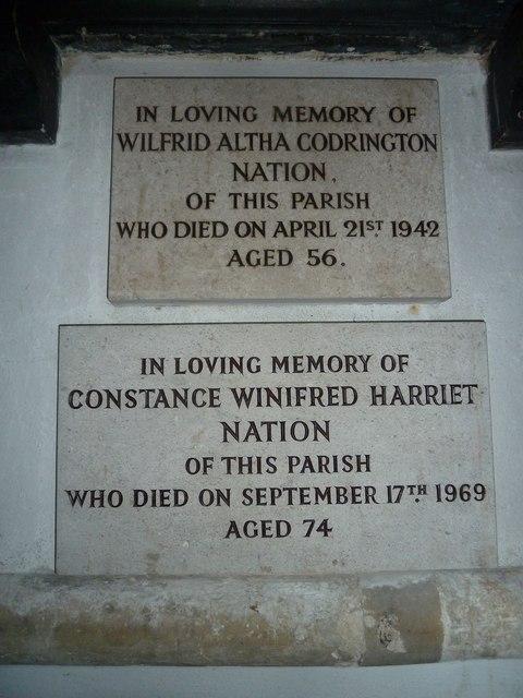 All Saints, Crondall: memorial (13,14)