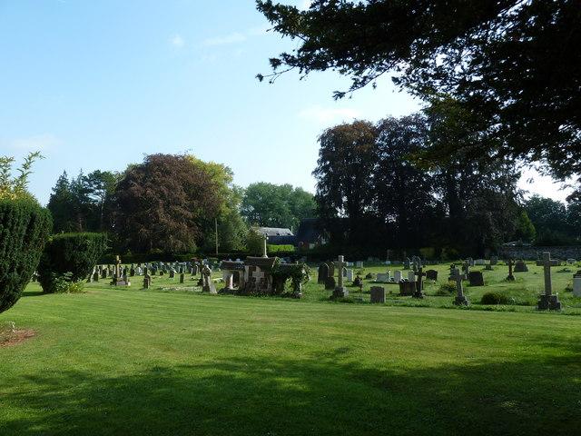 All Saints, Crondall: shadows in the churchyard