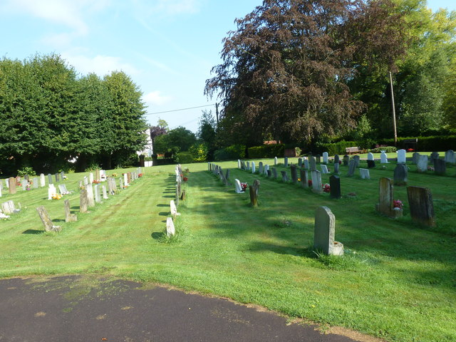 All Saints, Crondall: the churchyard in August
