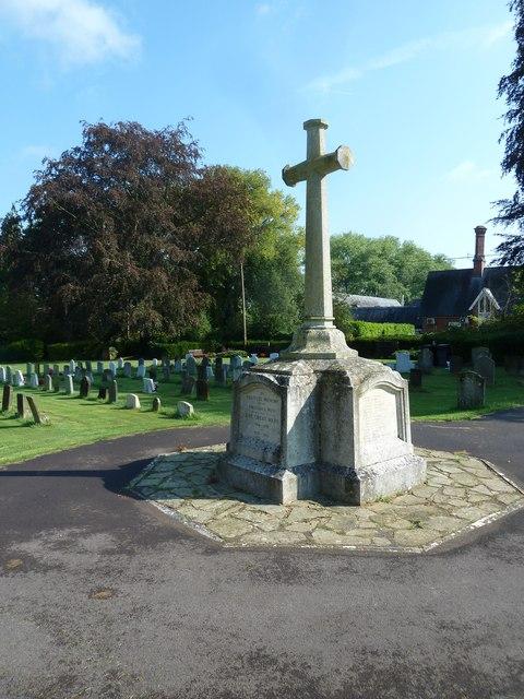 All Saints, Crondall: war memorial in the churchyard