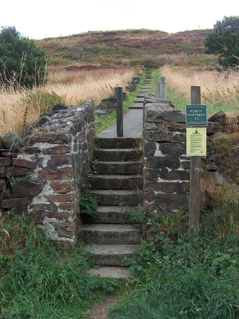 Path to Uppergate from Riggs Low Road, Stannington