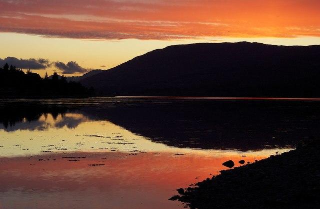 Sunset on Loch Eil