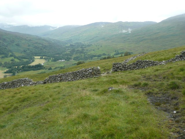 Dry stone wall junction