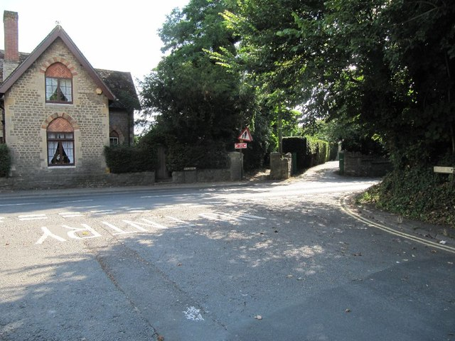 Footpath across the road