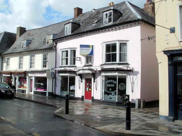 High Street shops, Brecon