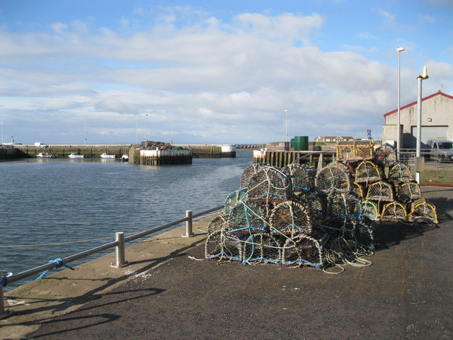 Lobster creels at Arbroath Harbour