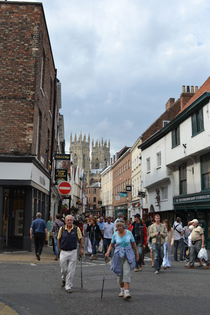 View up Low Petergate towards The Minster