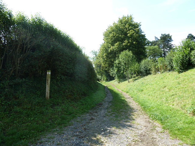 Footpath running south from Upper Froyle Cemetery to the village