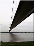 TA0225 : A view to the side of the Humber Bridge by John Lucas