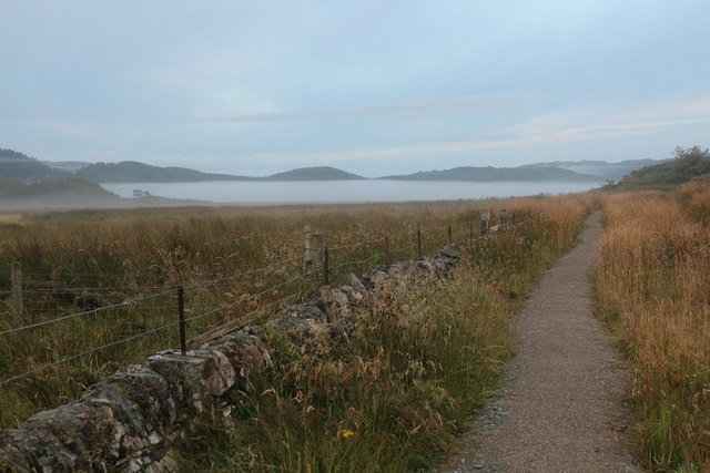 Mist covered Moine Mhor from Dunadd
