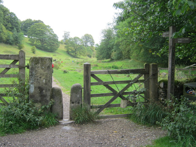 Stone stile and gate on The Limestone way