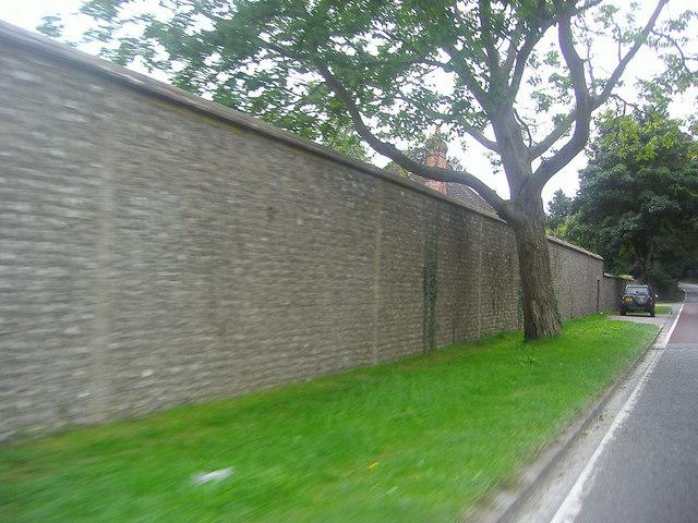 Wall outside West Dean gardens