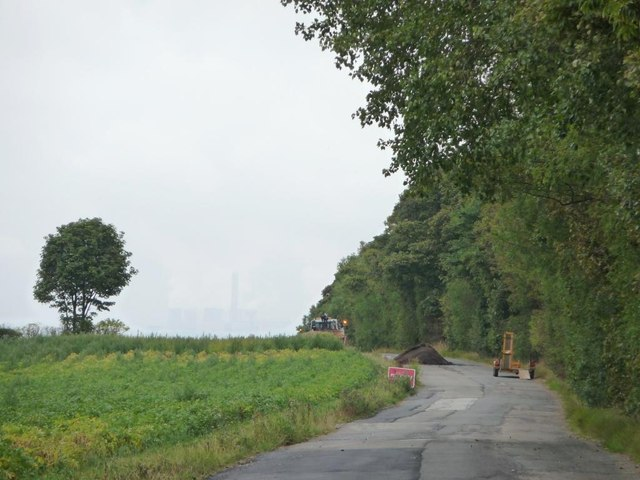 Road works on White Ley Road
