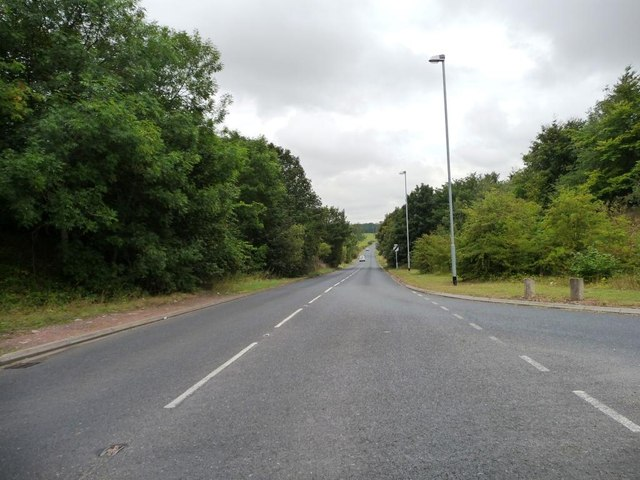 The A639 Doncaster Road, looking north