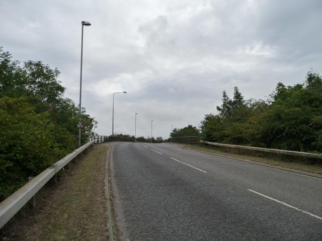 Climbing up to cross the A1