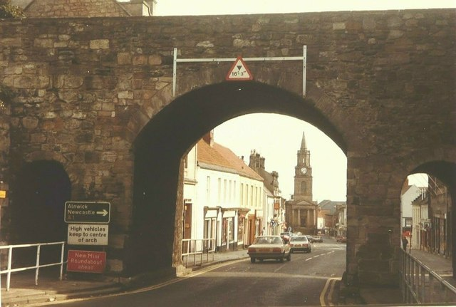 View through Scots Gate, Berwick-Upon-Tweed in 1984
