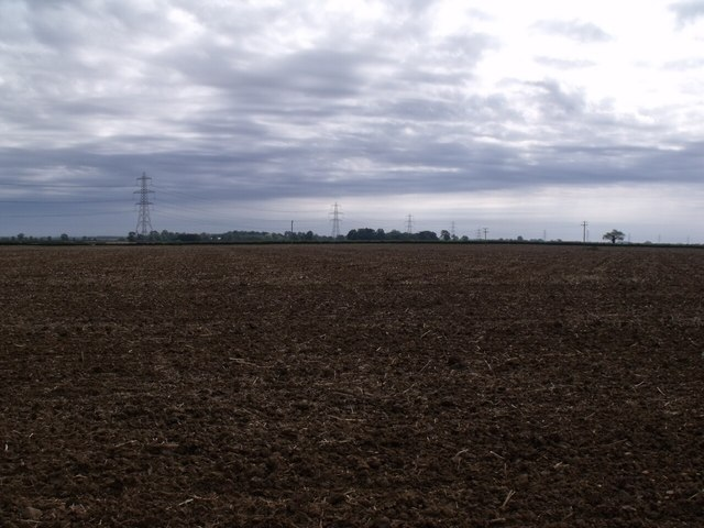 Farmland and Pylons near Asgarby