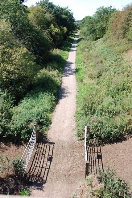Disused Newport to Stafford Rail Line