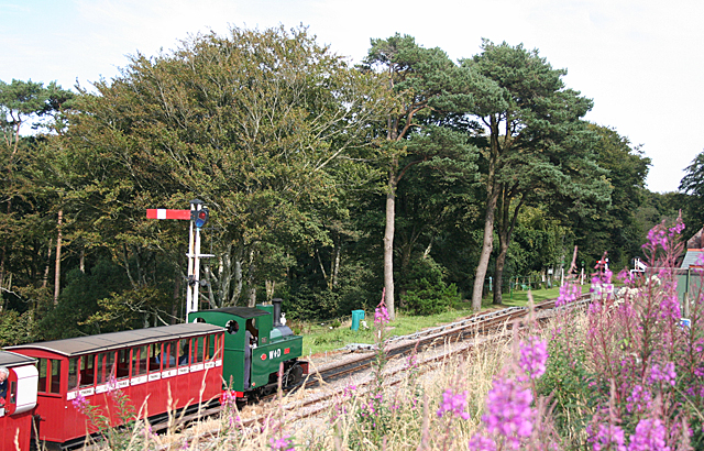 Approaching Woody Bay Station