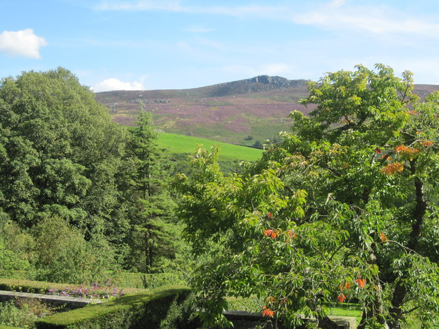 The view from the terrace of Parcevall Hall Gardens