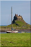 NU1241 : Towards Lindisfarne Castle by Ian Capper
