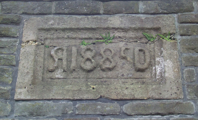 Date stone on St Mary Redcliffe Primary School