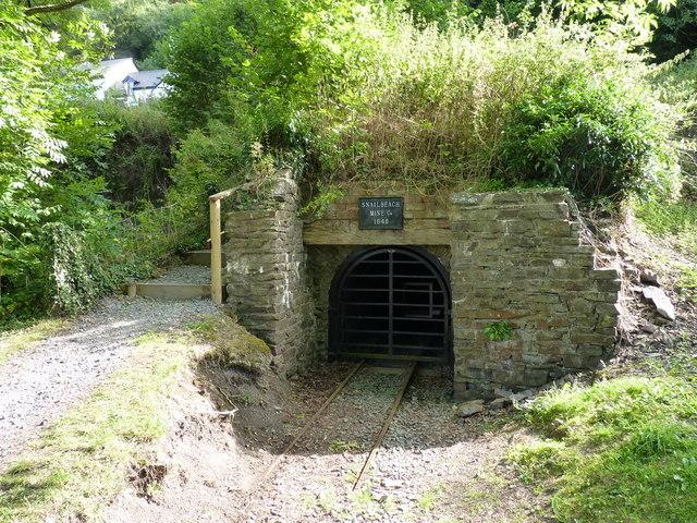 Snailbeach Mine - the entrance to the main adit
