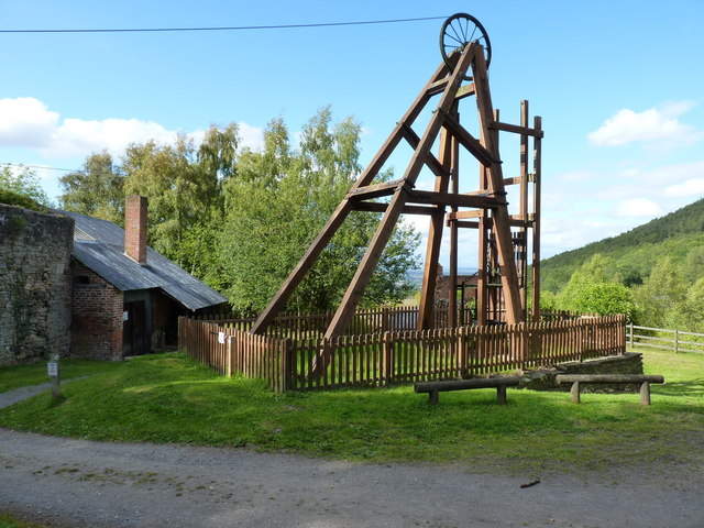 Snailbeach Mine - headgear over the main shaft