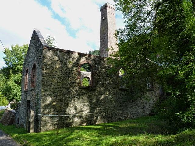 Snailbeach Mine - the main compressor house