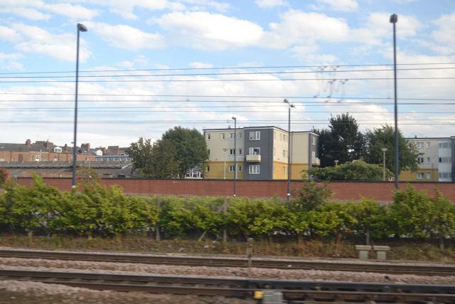Housing just beyond station car park