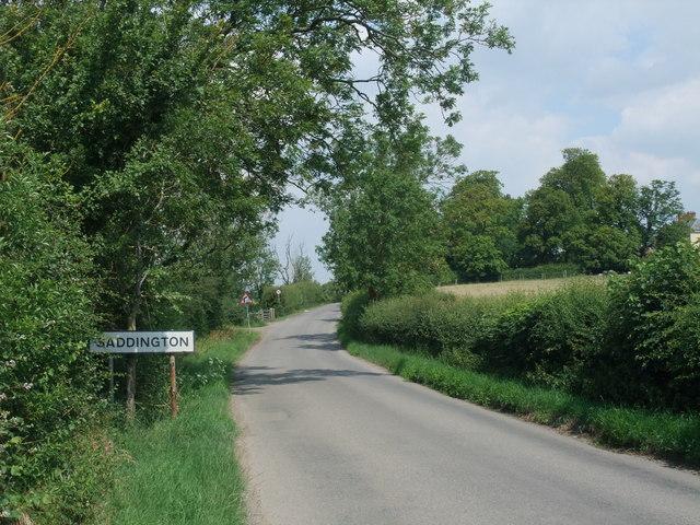 Entering Saddington on Cycle Route 6